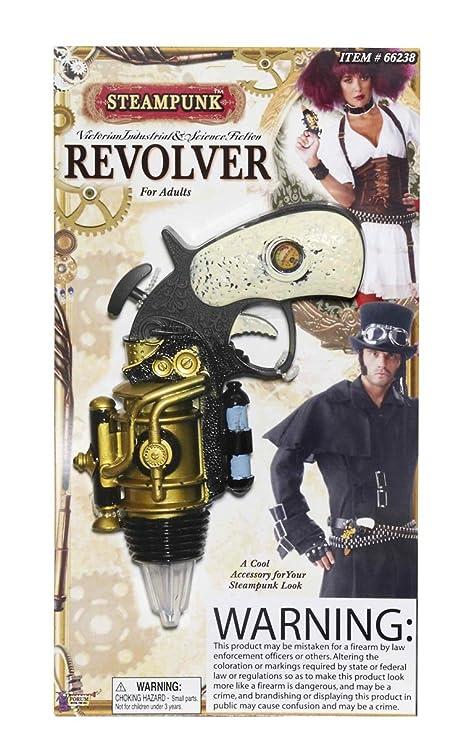 Steampunk diseño de revólver en