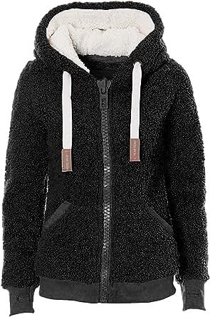 Kooos New Ladies Womens Soft Teddy Sherpa Fleece Hooded Jumper Hoody Jacket Coat