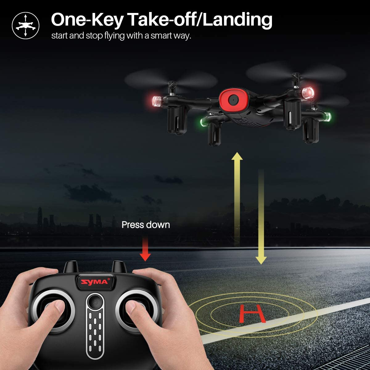 3D Flips 2 Modular Batteries RC Quadcopter for Beginners Boys with Altitude Hold One Key Start//Land Syma X400 FPV Drone with Camera for Kids and Adults 720P HD WiFi Transmission Draw Path