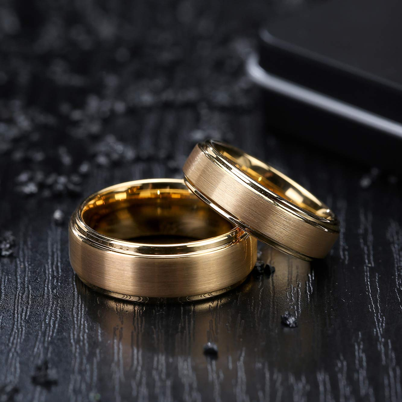 Amazon.com: LerchPhi alianzas de boda personalizadas de oro ...
