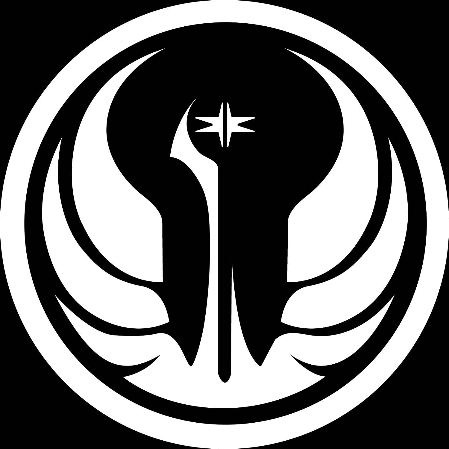 Amazon star wars galactic republic symbol logo 55 white amazon star wars galactic republic symbol logo 55 white ikon sign exclusive vinyl decal sticker notebook laptop ipad window wall car buycottarizona Choice Image