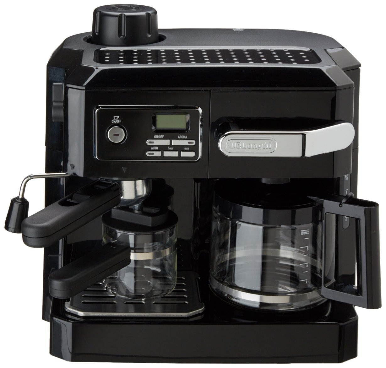 amazoncom delonghi bco320t combination espresso and drip coffee black combination coffee espresso machines kitchen u0026 dining
