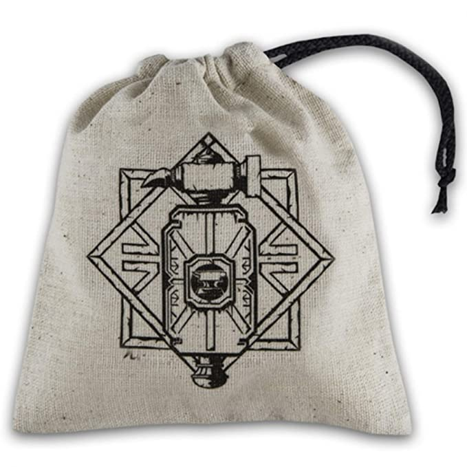 Amazon.com: Q WORKSHOP Dwarven Beige & Black Basic Dice Bag ...