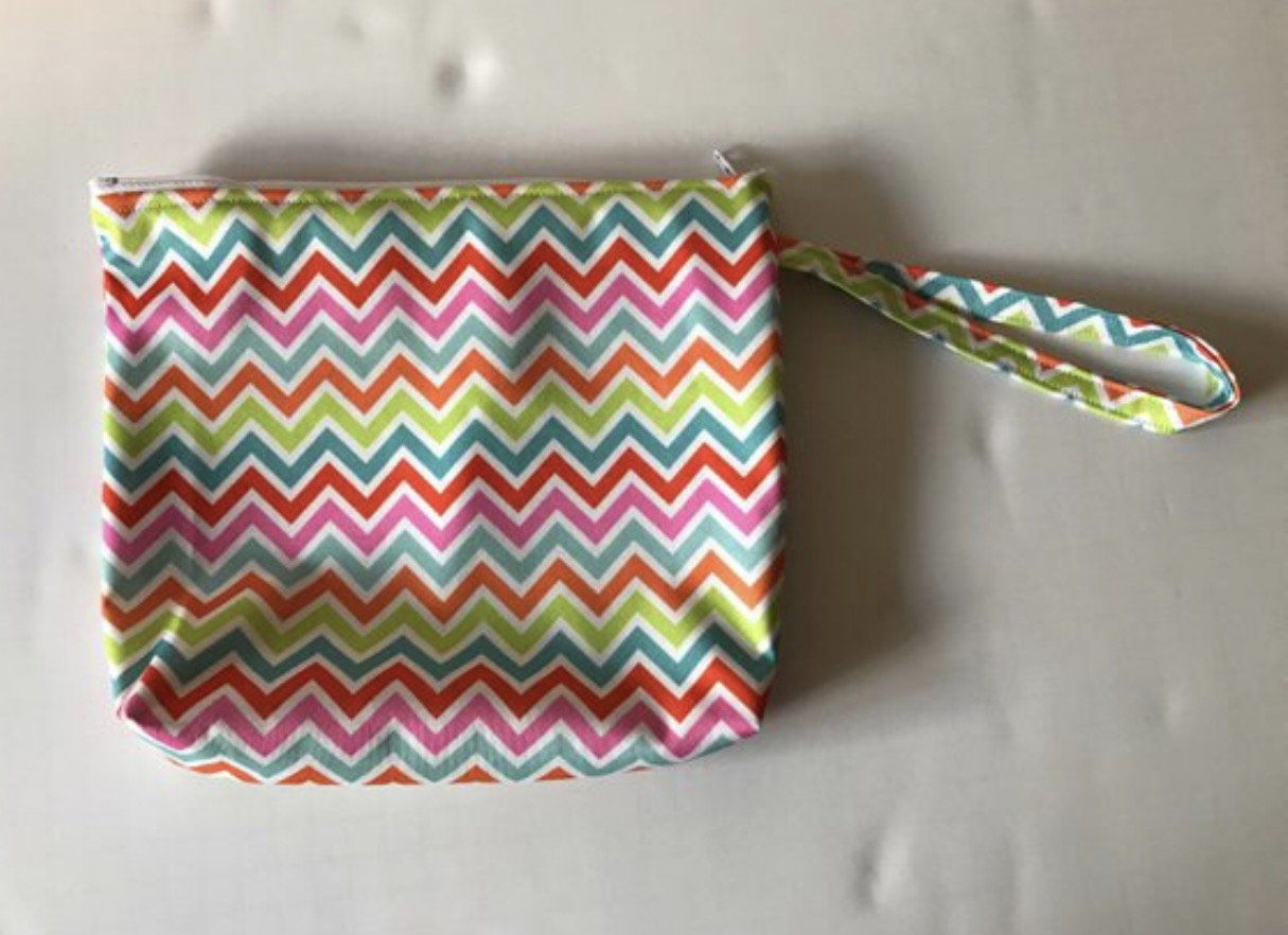 Wet bag, PUL zipper bag, diaper bag, washable