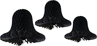 product image for 3-Piece Tissue Bell Decorations, Black, 9-15 Inch
