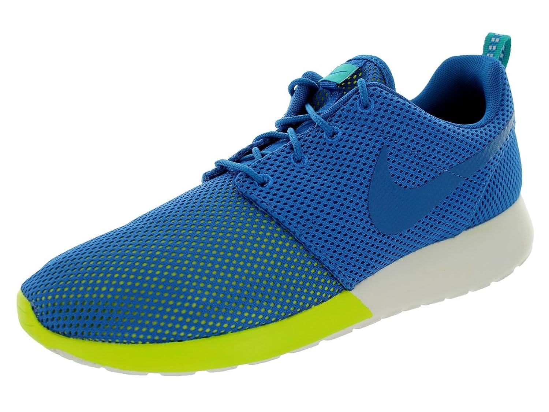 7b5039d2796c6 delicate Nike Roshe Run Men s Sneakers Military Blue Turbo Green Summit  White 511881-