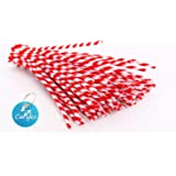Caryko Striped Chenille Stems Pipe Cleaners, Pack of 100 (Red)