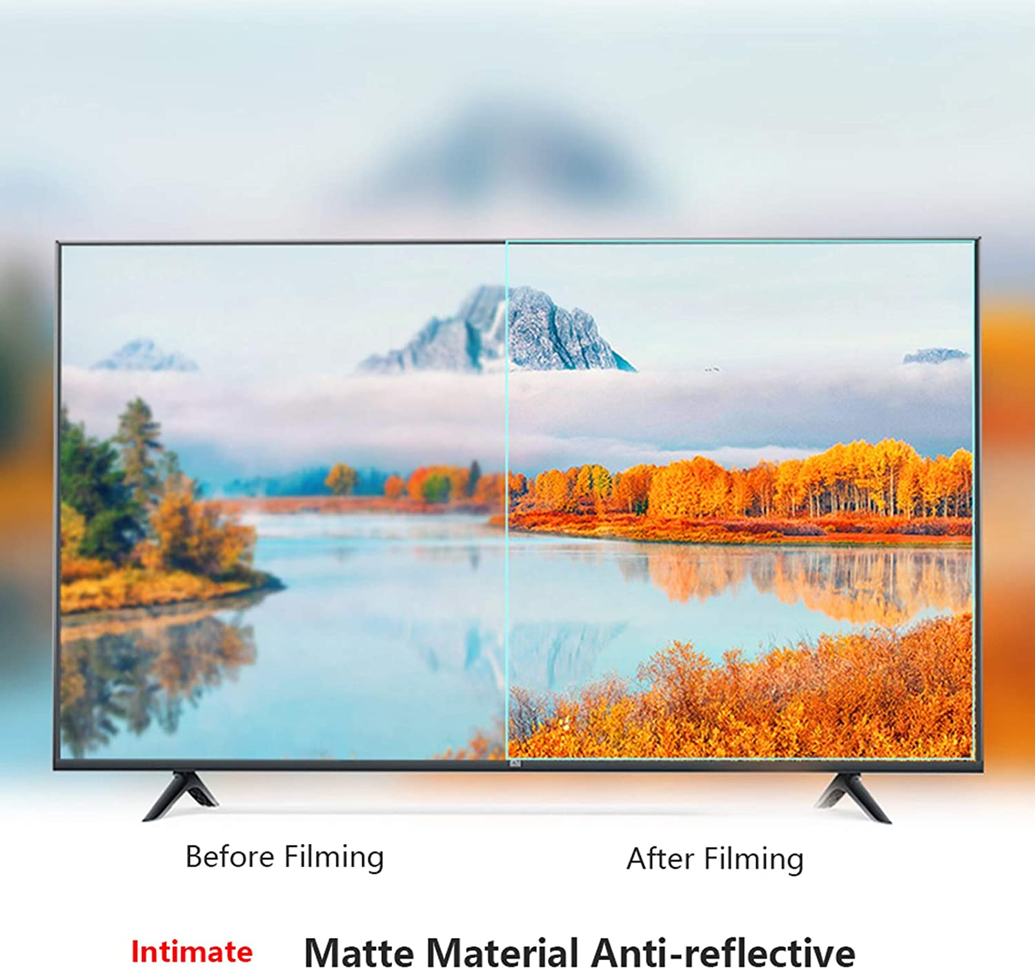 KELUNIS 32-65 Inch TV Screen Protector Anti-Blue Light Filter Anti Glare Anti-Scratch Screen Protector Panel Relieve Eye Fatigue for LCD//LED//OLED /& QLED 4K HDTV,46 1017570