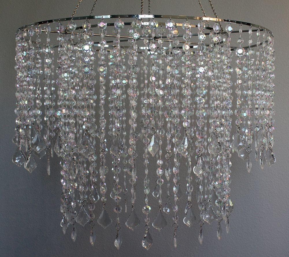 24'' wide Dazzling Large Beaded Chandelier by BalsaCircle