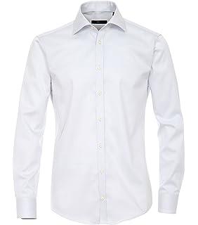Venti Hemd Hellgrau Uni Twill Langarm Slim Fit Tailliert Kentkragen 100% Feinste  Baumwolle Popeline Bügelfrei 07e594860b