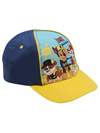 1f4f6426861 Paw Patrol Blue and Yellow Character Print Snapback Adjustable Strap Cap  Yellow One Size
