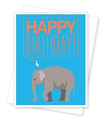 Amazon Big Elephant Birthday Greeting Card Arts Crafts Sewing