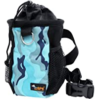 Ondoing Dog Treat Training Pouch, Food Storage for Dogs, Dog Treat Bag Waist Pack with Adjustable Strap Easily Carries Pet Toys Treats,Hands Free Pouch for Training Reward