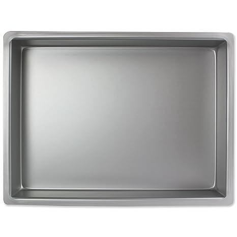 PME Molde para Pastel Rectangular de Aluminio Profundidad de 12 x 18 x 3-Pulgadas