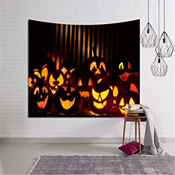 Tuscom Halloween Element Creative Funny Trick Or Treat Horror Tapestry Tablecloth Dorm Tapestry Sheet Wall Art