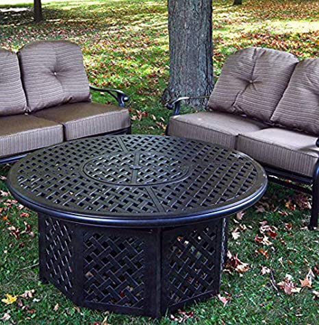 Amazon Com Ipatio Sparta 52 Inch Chat Height Gas Firepit Table