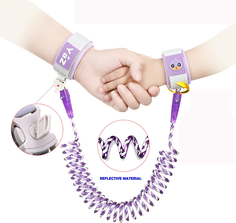 Corde de traction pour B/éb/é Ceinture Anti-Perte pour Enfant Harnais Enfant Laisse Marche-Anti-Perdu Poignet Link-Bracelet Anti-Perte pour Enfant 4.9FT, Pink