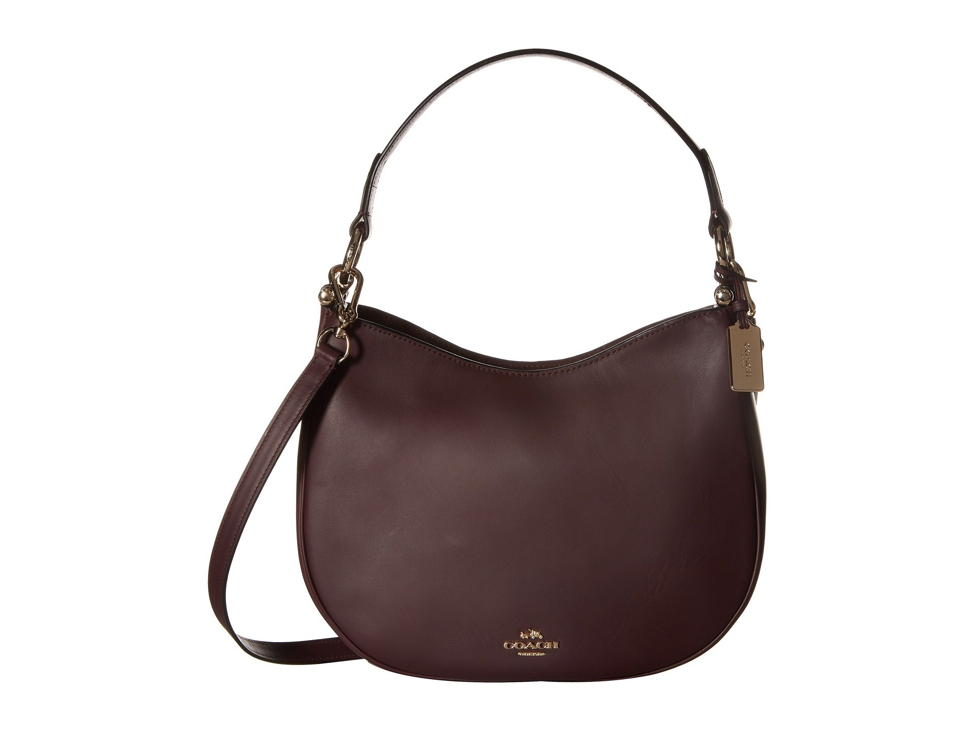 COACH Women's Glovetanned Coach Nomad Crossbody LI/Oxblood Hobo