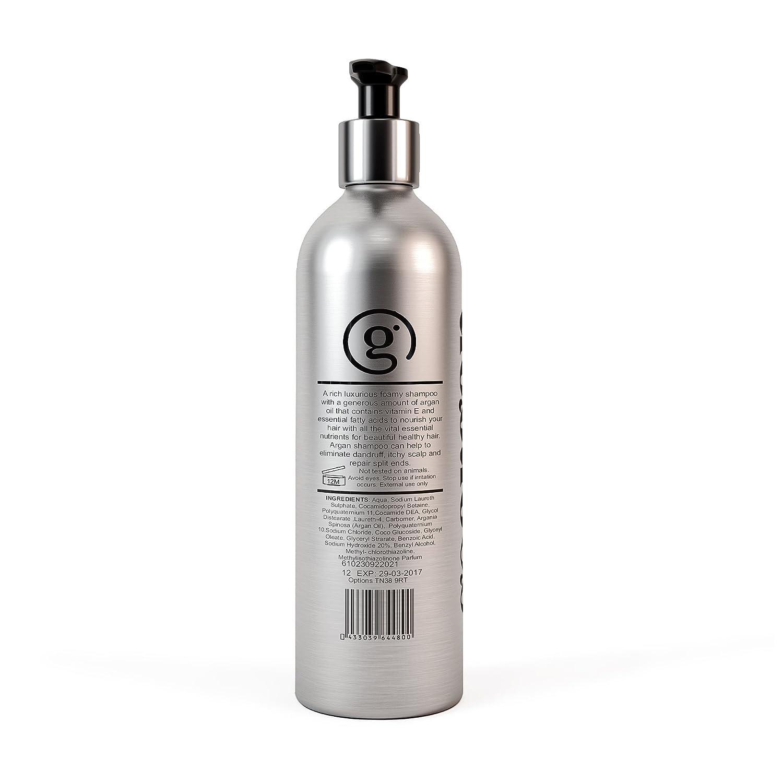 Aceite de Argán Champú por Go | para uso diario con vitaminas | parabenes de Argán, aceite de argán marroquí | alcanzar hermoso cabello sano eliminar caspa, ...