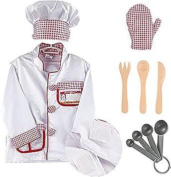 EZSTAX Disfraz de Chef para Niños de Halloween: Amazon.es ...