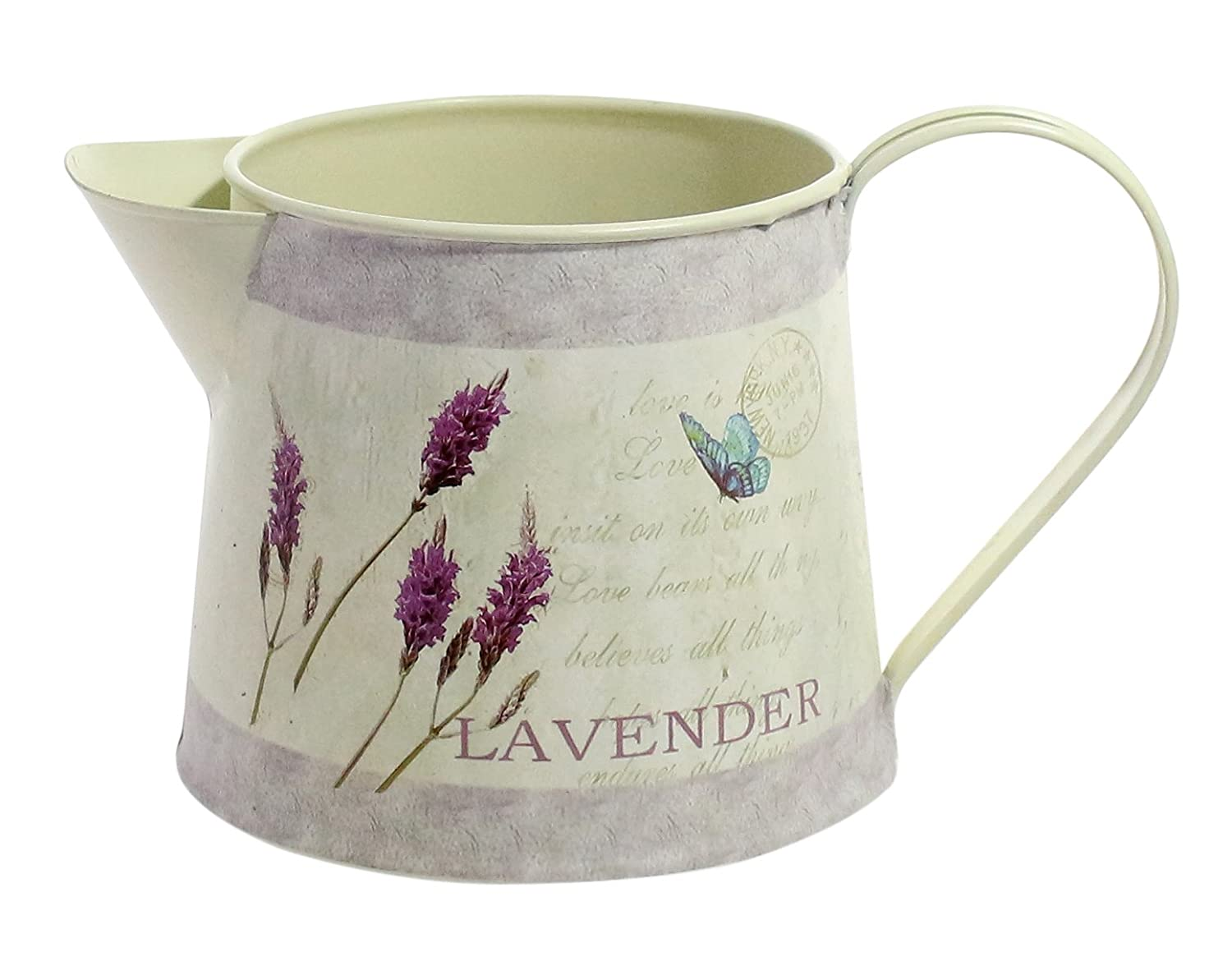 Jug Pail Bucket Small Retro Rustic Succulent Herb Flower Bonsai Planter Watering Pitcher Holder Container Lavender Petite 12CM Tall Metal Planter Watering Can