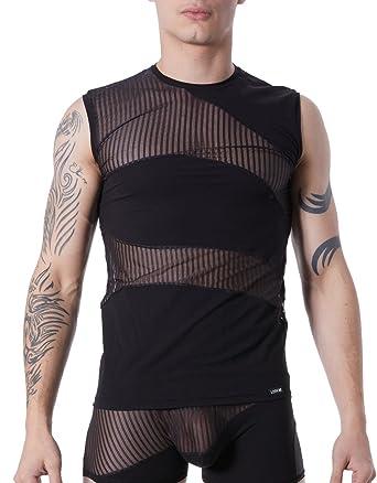 online store 8a7ea a35d2 LOOK ME T-Shirt Tank Top Schwarz Herren Sexy ...
