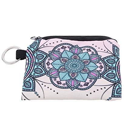 Ogquaton Durable Mandala Estampados de Flores Mini Monedero ...