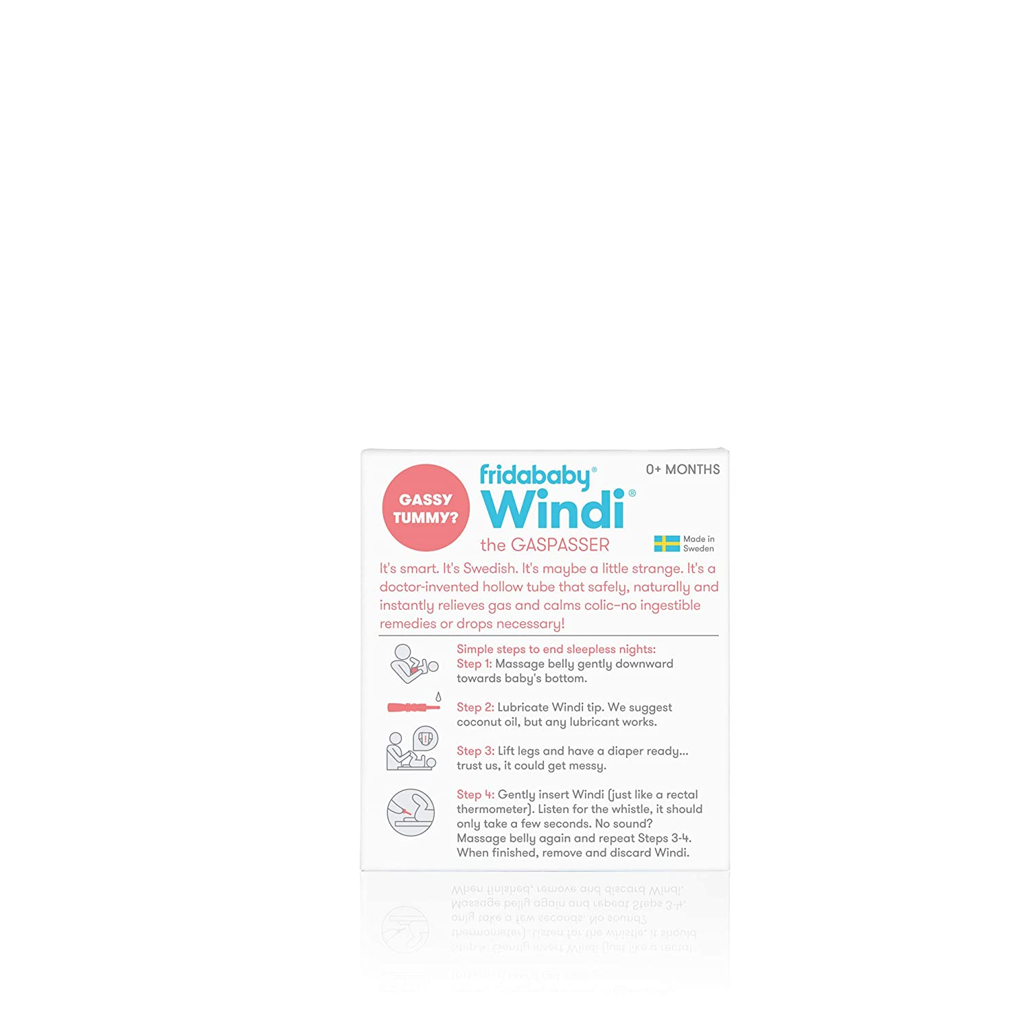 Windi The Gaspasser by Fridababy The All-Natural Solution for Baby Colic  and Gas Relief