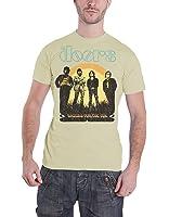 The Doors T Shirt waiting for the sun 1968 Tour logo Official Mens Sand