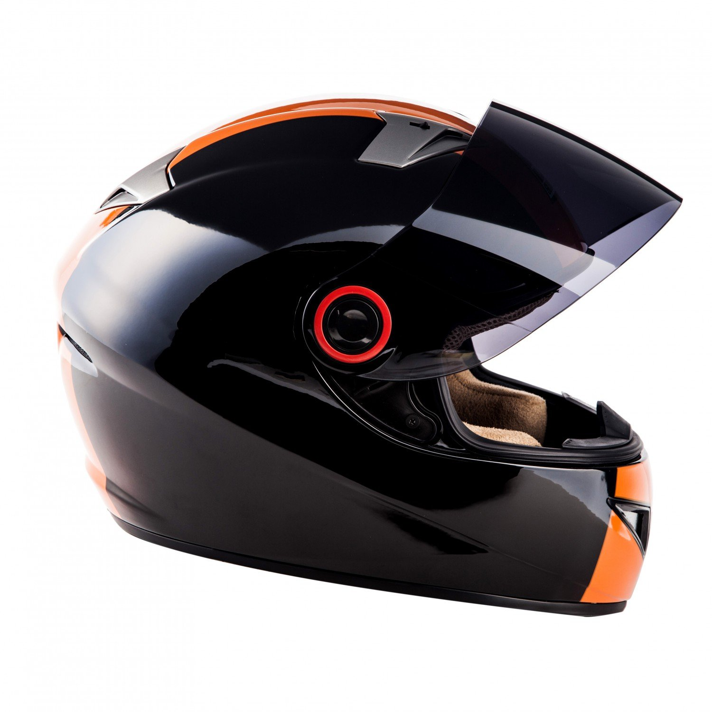 Cloth Bag /· Black /· L 59-60cm Sun Visor /· incl SOXON ST-666 Deluxe Night /· Sport Scooter-Helmet Street Motorcycle-Helmet Full-Face Helmet Urban Moto-Helmet Cruiser /· ECE certified /· incl