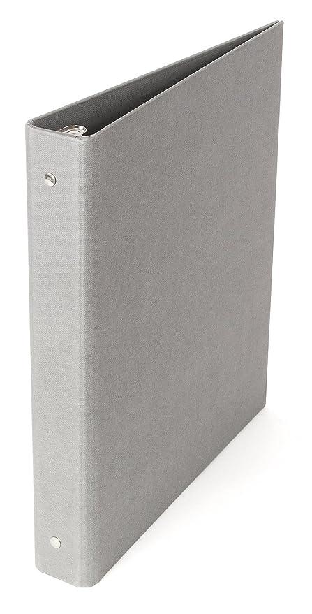 amazon com bigso ringo 3 ring binder 1 inch gray home kitchen