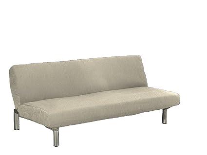 textil-home Funda de Sofá Elástica Clic-clac TEIDE, 3 plazas - Desde 180 a 240 cm. Color Marfil