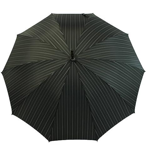Paraguas Doppler Castaño Orion - negro con Raya diplomática