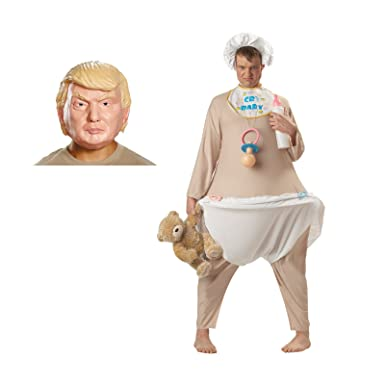 President Donald J. Trump Cry Baby Adult Costume Bundle - Standard  sc 1 st  Amazon.com : baby adult costume  - Germanpascual.Com