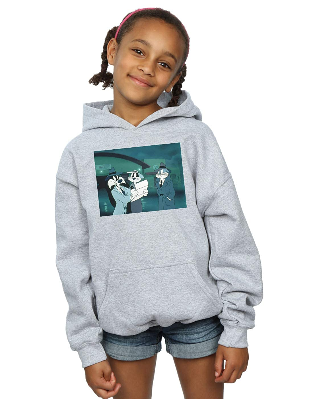 Absolute Cult Looney Tunes Girls Bugs Bunny Sylvester Letter Hoodie