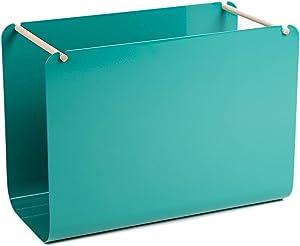 U Brands Metal Hanging File Organizer, Desktop Accessory, Arc Collection, Green (3542A02-04)