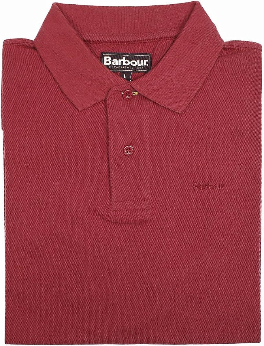 Barbour - Polo para Hombre, Color Rojo, Talla L: Amazon.es: Ropa y ...