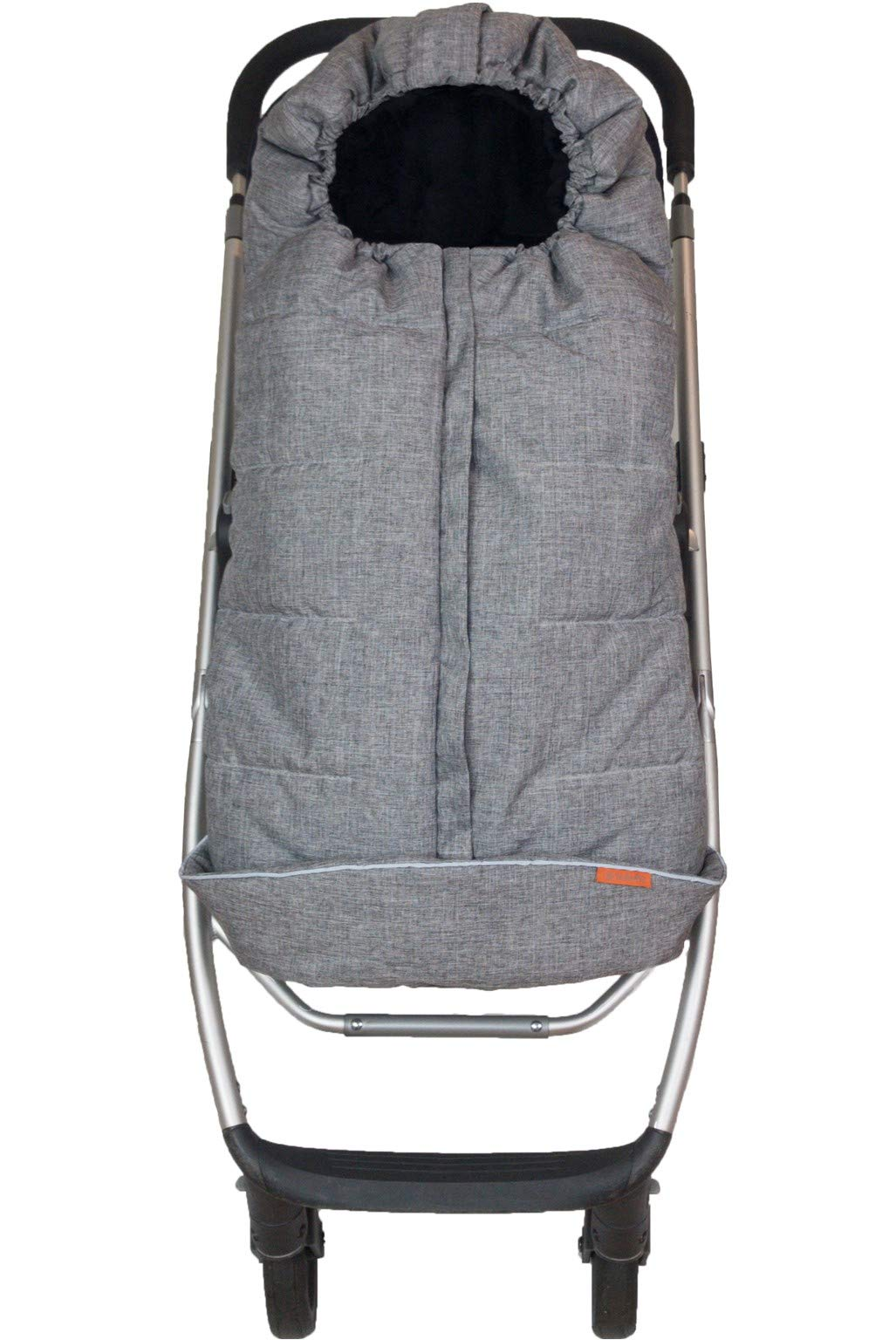 liuliuby CozyMuff Toddler Size – Weatherproof Footmuff with Temperature Control – Universal Fit for Strollers (Heather Gray)