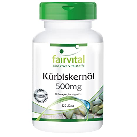 Calabaza 500 mg de aceite de semilla - 1 mes - VEGAN - ALTA DOSIS -