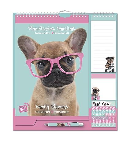 Grupo Erik Editores - Studio Pets Perro Calendario Pared Planificador 2018/2019, 21.5 x 32.5 cm
