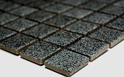 Rete mosaico mosaico piastrelle quadrati uni grigio pietra