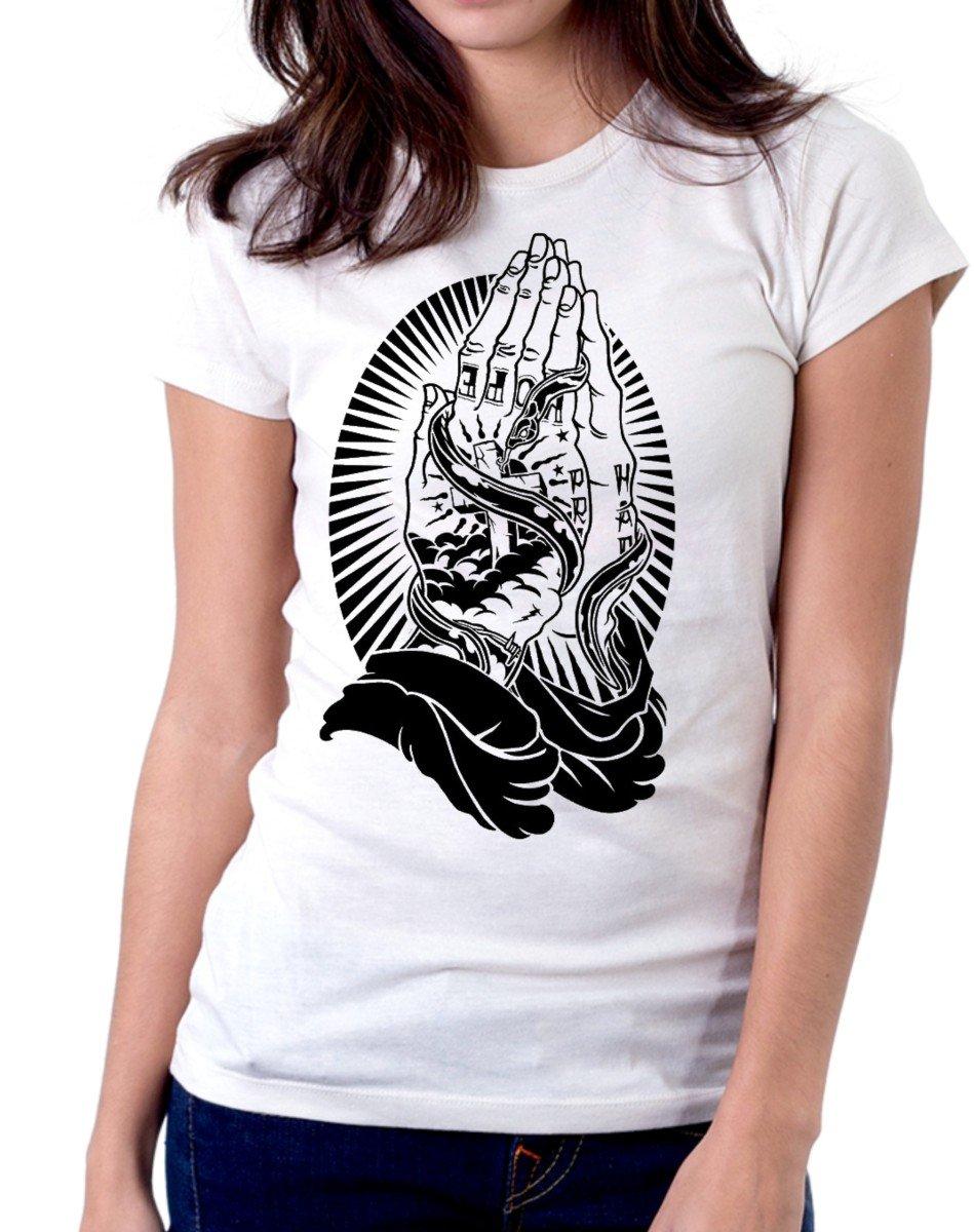 T-Shirt Tattoo oración Santa Muerte, Tatuajes, Tattoo. de Mujer ...