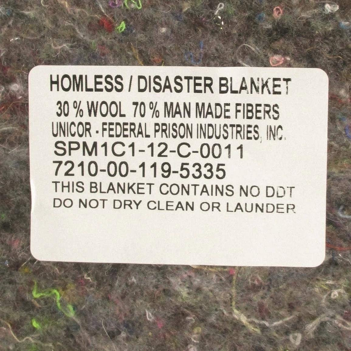 10//Pack Surplus Disaster Wool Disaster Emergency Blankets Needle Punch Non-Woven