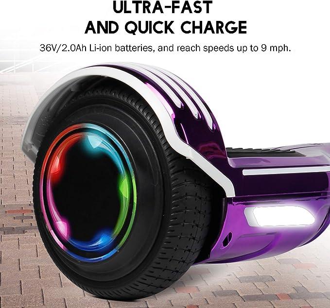 Amazon.com: SISISIGAD patinete autoequilibrante de 6.5 ...