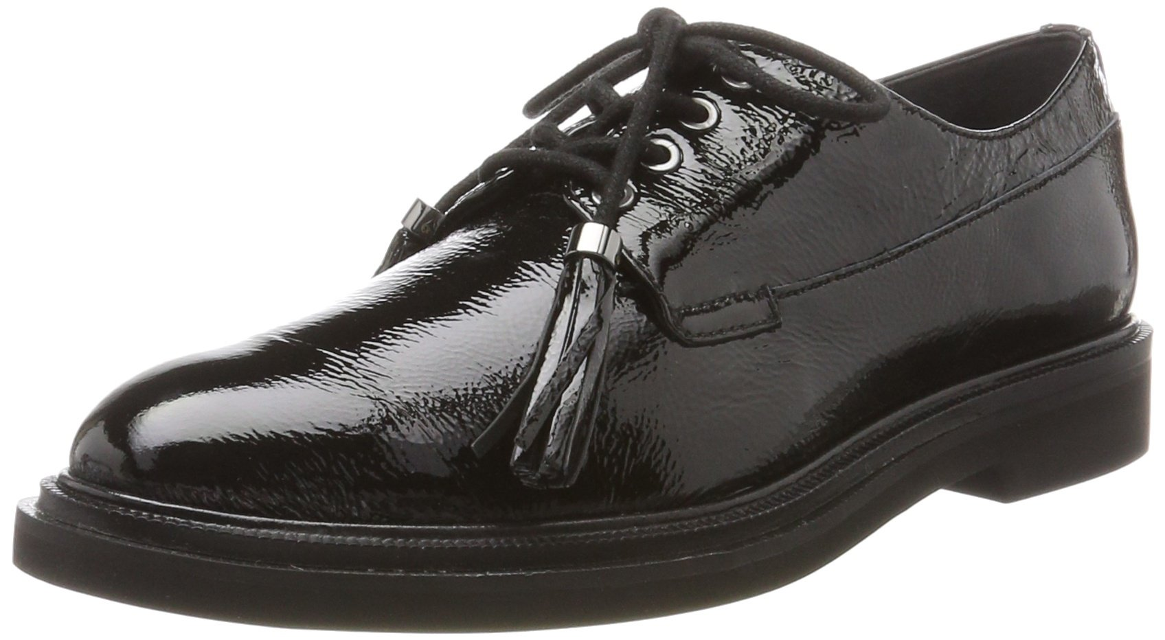 Kenneth Cole New York Women's Annie Menswear Style Patent Oxford, Black, 9 M US by Kenneth Cole New York