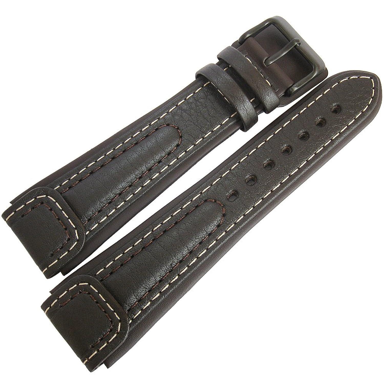 di-modell Chronissimo Long 20 mmブラウンレザーPVDバックルドイツ腕時計ストラップ  B01JVBJF90