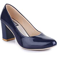 Trendy Fashion Women Blue Block Heels