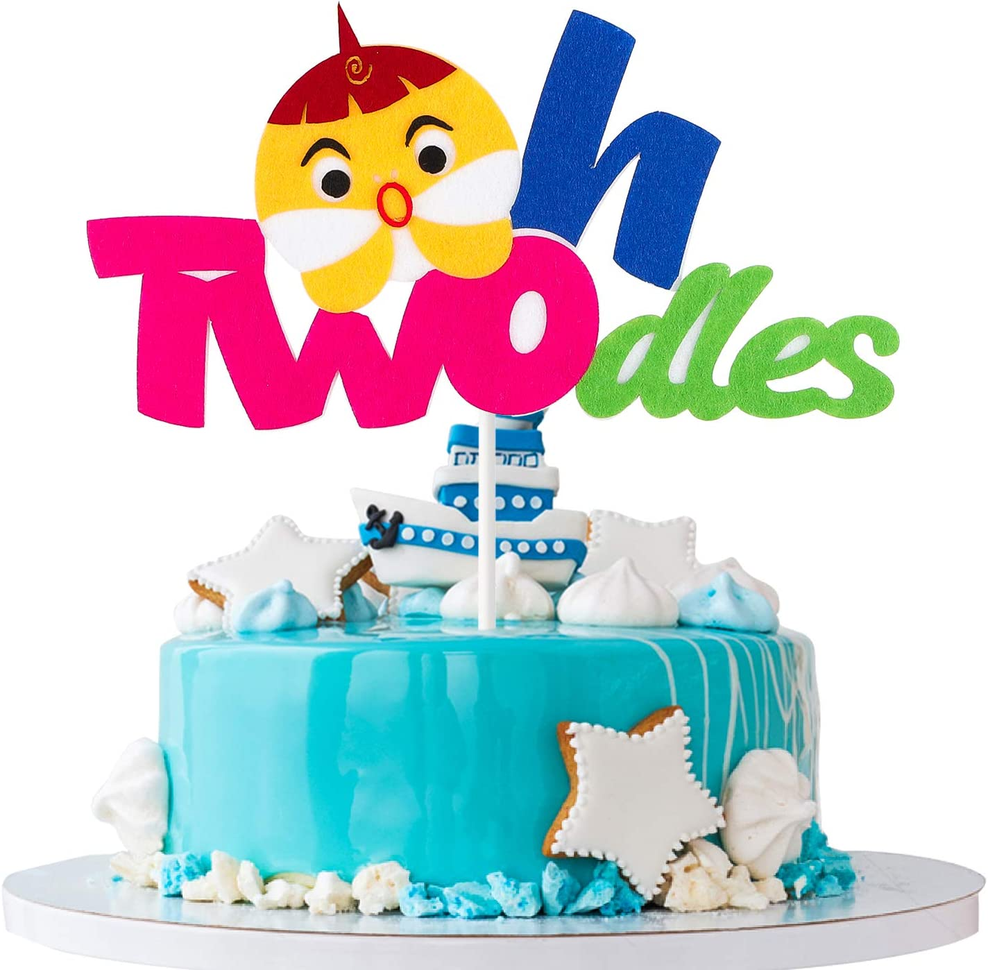 Swell Mallmall6 Little Shark Two Birthday Cake Topper Twodles Sharks 2Nd Personalised Birthday Cards Sponlily Jamesorg