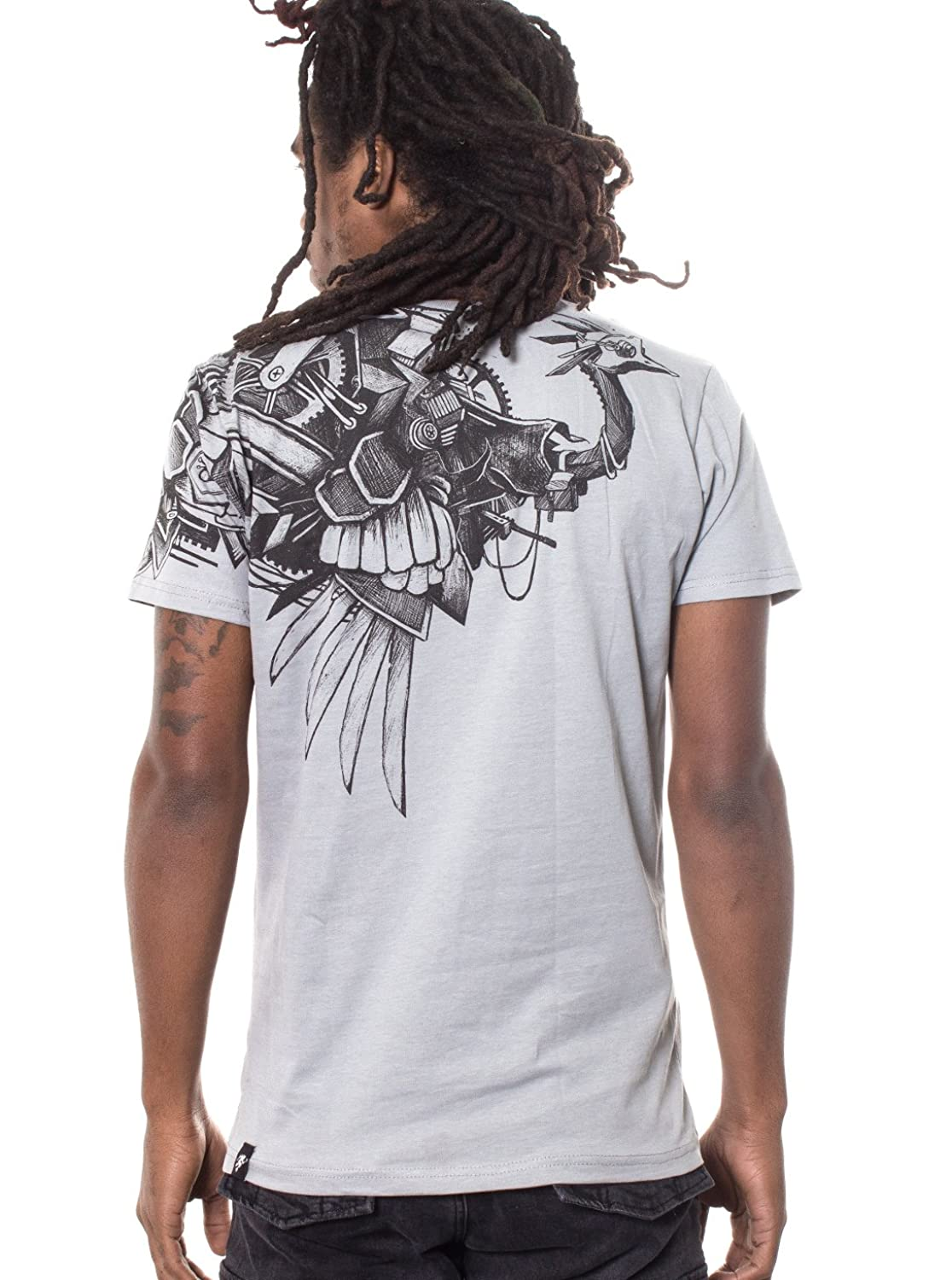 Steampunk Ostrich T Shirt For Men - 100% Cotton Tee Regular Fit - Streetwear