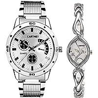 CARTNEY Analogue White Dial Men's & Women's Couple Watch (Cty0109)